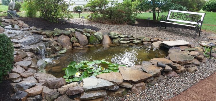 York County PA Pond with Rock Hardscaping
