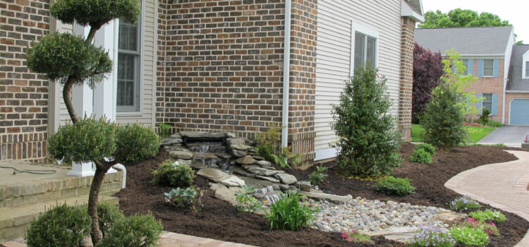York County PA Picture of Front of House Foundation Plants