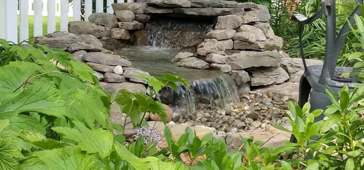 York County PA Custom Pond Waterfall